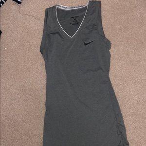 gray nike pro tank top